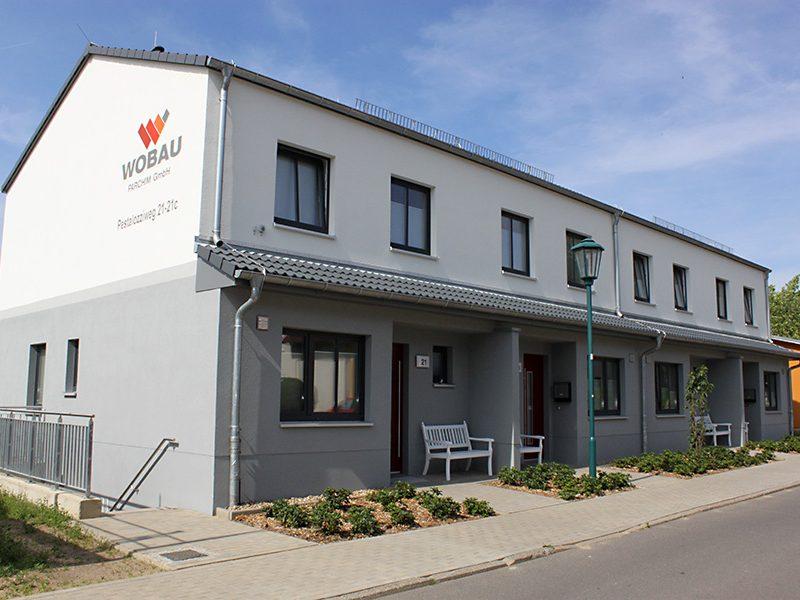 Neubau von Reihenhäusern mit Nebenanlagen in Parchim